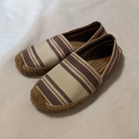 Tory Burch Striped Rope Sole Espadrille Flats